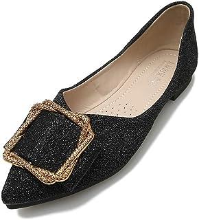 [サニーサニー] パンプス ポケッタブルシューズ ペタンコ靴 歩きやすい 折りたたみ 柔らかい 疲れない ポインテッドトゥ 結婚式 二次会 収納可能 キラキラ 痛くない おしゃれ 可愛い 結婚式 オフィス 通勤