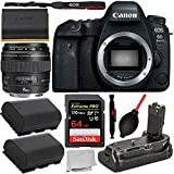Canon EOS 6D Mark II DSLR Camera (Body Only 1897C002) with Canon EF 85mm f/1.8 USM Lens and Ultimaxx Battery Grip for CANON 6D MKII and Starter Accessory Bundle: Includes – Sandisk 64GB Extreme Pro Me