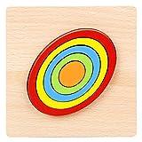 DishyKooker Juguete educativo de madera 3D, diseño geométrico de inteligencia, juguete educativo de rompecabezas 8#