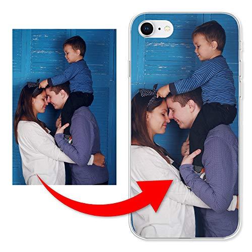 KX-Mobile Personalisierte Hülle für iPhone SE 2020 Handyhülle aus Silikon/TPU mit deinem eigenen Motiv - Dein eigenes Bild Selfie Design Foto
