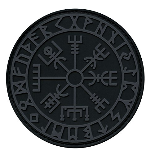 LEGEEON ACU Subdued Vegvisir Viking Compass Norse Rune Morale Tactical PVC Rubber Fastener Patch