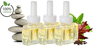(3 Pack) 100% Natural Patchouli Spa Plug in Refill - Fits Air Wick Scented Oil Warmers