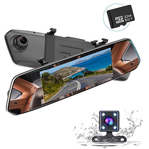 【32Gカード付き】MUSON(ムソン) ドライブレコーダー バックミラー型 前後カメラ 1080PフルHD 7インチ タッ...