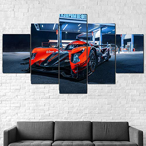 QQWW 5 Piezas Cuadro sobre Lienzo- Aurus 01 Le Mans 2020 Carrera Coche Impresión Artística Imagen Gráfica-5 Piezas-Impresión en Lienzo Listo para Colgar-en un Marco,Moderna decoración del hoga