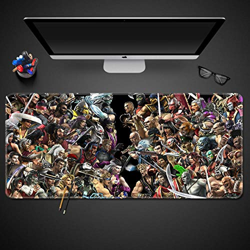 Mortal Kombat Multifuncional Grande Gaming Mouse Pad XXL 900x400mm, Lavable, Antideslizante Diseñada para Gamers, Trabajo de Oficina-Cartoons_5_900_mm_x_400_mm
