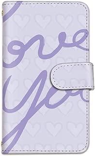 [bodenbaum] AQUOS ZETA SH-01H 手帳型 スマホケース カード ミラー スマホ ケース カバー ケータイ 携帯 SHARP シャープ アクオス ゼータ docomo ハート love you a-027 (B.パープル)