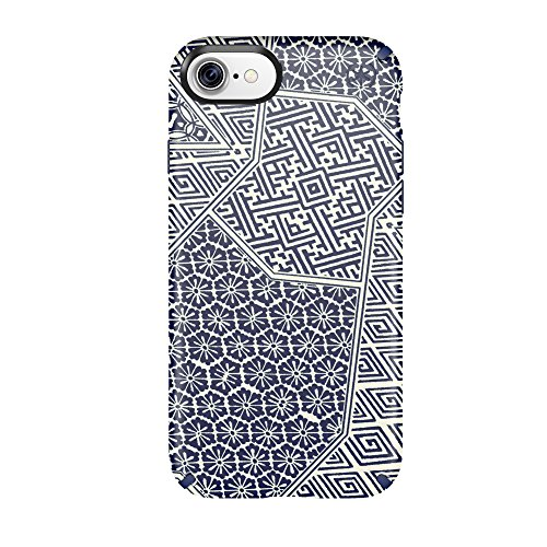 Speck 79990-5757 Presidio Inked Cell Phone Case for iPhone 7 - ShiboriTile Blue Matte/Marine Blue