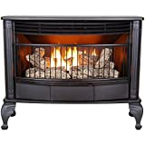 ProCom QNSD250RT Ventless Dual Fuel Stove-25,000 BTU, Large, Black