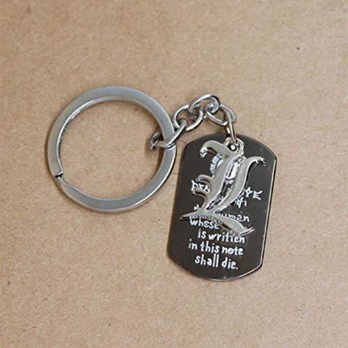 Haushele OFD Anime Peripherie Death Note L Logo Schlüsselanhänger Halskette Schmuck Anime Peripherie Death Note L Logo Schlüsselanhänger(H01)