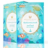 ANNIE'S WAY Fantasy Land Face Facial Mask Sheet, Brightening Soothing Stress Relieving Moisturizing Skin for Better Sleep Suitable for All Skin Types 10 Sheets Pack(Hyaluronic Acid Seaweed Hydrating)