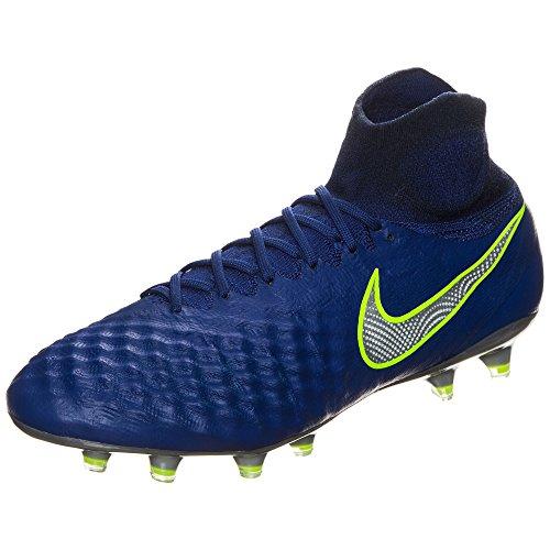 Nike Magista obra II FG Herren Fußball Schuhe –, Blau / Silber