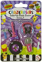 Crazerasers Rock 'N' Roll Never Die (4 Mini-Erasers) - : Collectible Erasers Series 2
