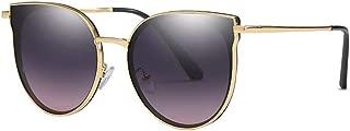 SGJFZD Men Women Sunglasses Polarized Light Vintage Retro General Purpose Metal Sunscreen UV400 Riding TAC (Color : Blue+Yellow)