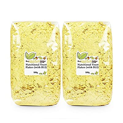Nutritional Yeast Flakes (with B12) 1kg (Buy Whole Foods Online Ltd)