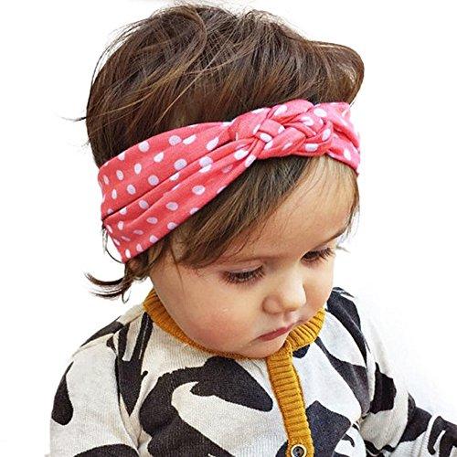 Andy's Share 5 Stück Baby Mädchen Neueste Turban Stirnband Kopf Haarband (Mehrfarbig 3)