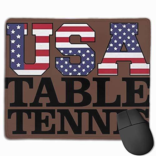 USA Tischtennis - Gaming Mouse Pad Computer Schreibtisch Pad rutschfeste Gummi genähte Kanten (9,8 x 11,8 Zoll)