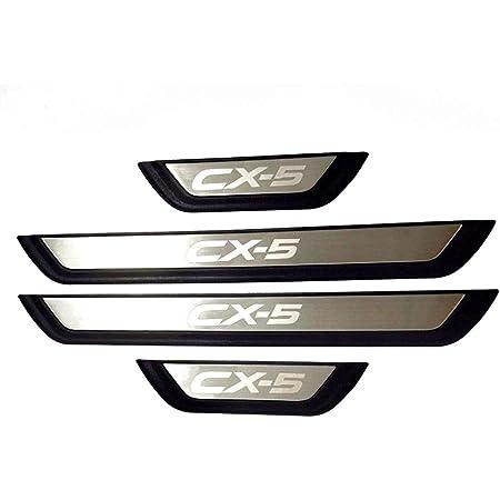Bnhhb 4 Stück Auto Edelstahl Türschwelle Für Mazda Cx 5 Cx 5 Cx5 Kf 2017 2018 2019 2020 Trittbleche Einstiegsleistenschutz Styling Dekorationszubehör Küche Haushalt