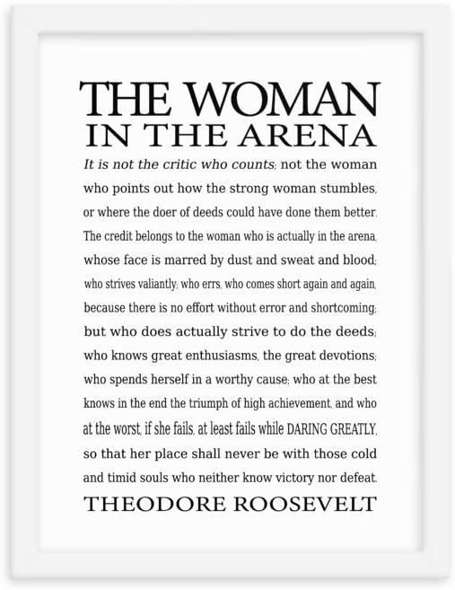 The Woman in Jacksonville Ultra-Cheap Deals Mall Arena Framed Roosevelt by Quote parap Theodore