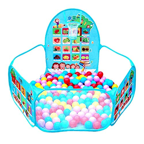 AABBC Ocean Ball Pool - Tienda para niños Juego de bebé Piscina Bobo Ball Cartoon Shooting Plegable Shooting Game House 120cm (Color: Azul)
