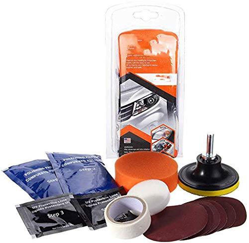 Fine Car Bicycle Home Lamp Polishing Tool,Car Headlight Restoration Fluid Car Glass Scratch Remover Headlight Restoration Kit for Car Repairing (Multicolor)