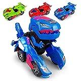 FOHYLOY Transformando Dinos Car, un Dinosaurio Que se balancea en un Auto de Carreras, un Juguete...