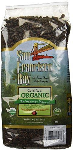 San Francisco Bay 100% Organic Coffee Rainforest Blend Whole Bean 3 Lbs