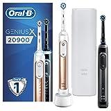 Oral-B Genius X 20900 Cepillo de dientes eléctrico, con inteligencia artificial, con segunda pieza de mano, oro rosa y negro