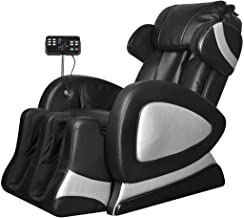 vidaXL Massage Chair with Super Screen Black Faux Leather
