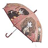 CERDÁ LIFE'S LITTLE MOMENTS- Paraguas Automático Niño de Harry Potter - Licencia Oficial Warner Bros, Color Rojo (2400000619)