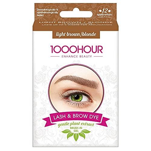 1000 Hour Plant Based Lash & Brow Dye Kit - Light Brown (MB)
