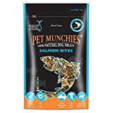 Pet Munchies - Snacks bocaditos de salmón para perros (8 Paquetes) (8 x 90g) (Puede Variar)