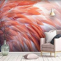 XSJ 壁紙カスタム大3D壁画北欧シンプルな羽毛リビングルーム寝室の壁の装飾壁紙壁画-300X210CM