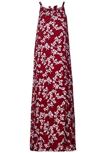 Street One Damen 142477 Kleid, Wine red, (Herstellergröße:40)