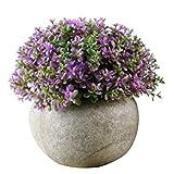 Künstliche Topfpflanze lebendige realistische künstliche Blume Pflanze Gras Papier LP Topf Bonsai Ornament Nicht verblassen Gartentisch Ornament L TINGG (Color : K)
