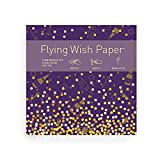 """Flying Wish Paper - Champagne Dreams, Write It, Light It and Watch It fly, Large Kit, 7"""" x 7"""""""