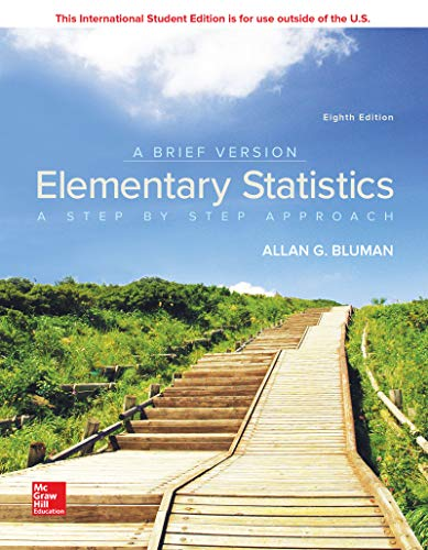 Compare Textbook Prices for Elementary Statistics: A Brief Version 8 Edition ISBN 9781260092554 by Bluman, Allan