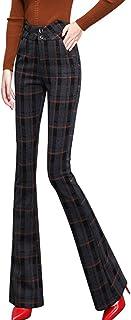 春の秋の新金 女性のズボン 九分のズボン 長ズボン カジュアルパンツ ラッパズボン パンタロン フレア ベルボトム フィットパンツ S-2XL