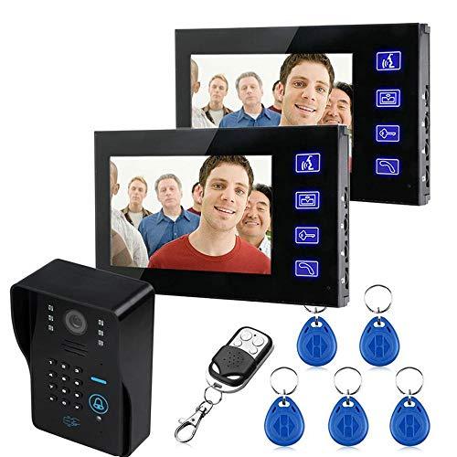 WWAVE deurbelmachine, 17,8 cm (7 inch), touchscreen, kleur, wachtwoord, wifi-kaart, visual, deurbel, draadloos, afstandsbediening, ontgrendeld