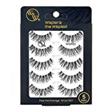 W&W 5 Pairs Handmade False Eyelashes, Wispies Style, Very Natural and Comfortable, Fake Eyelashes
