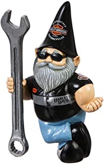 Harley-Davidson Male Garden Gnome with Wrench 4.5 x 8.5 x 2.5 x 6 Inches, Motorcylce Mechanic Outdoor Décor for Your Garde...