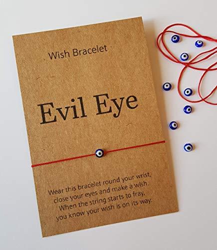 Evil Eye Bracelet, Wish Bracelet, Thread Bracelet, Gift Bracelet, Red string Bracelet, Adjustable Bracelet, Protection Bracelet, Gift, Glass bracelet