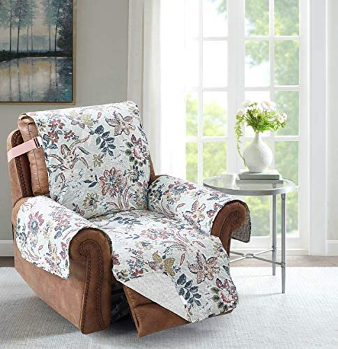 Best Brilliant Sunshine Burgundy Flowers in Green Backgrounds, Reversible Recliner Protector for Seat Wid