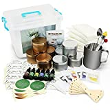 Candles, Luxury DIY Candle Making Kit Supplies Set Scented Candle Molds for Art and Craft Soy Wax, Fragrance Oil, Cotton Wicks, Candle Pigment, Candles Craft Supplies 81 Piece Gifts Set