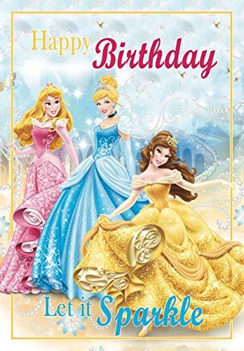 Tarjeta de cumpleaños de princesa Disney – a todo color en el interior – publicado el mismo día.