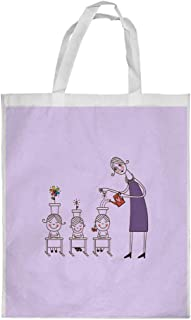 Plant the seeds of love in children Printed Shopping bag, Large Size