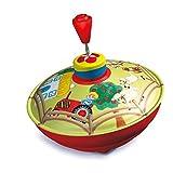 Bolz 52520 Brummkreisel Bauernhof, Ø 13 cm, Schwungkreisel aus Blech, Pumpkreisel erzeugt mehrstimmige Töne, Spielzeugkreisel für Kinder ab 18m+, Blechkreisel aus Metall mit Farm Motiv, bunt