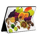 igsticker Surface Pro X 専用スキンシール サーフェス プロ エックス ノートブック ノートパソコン カバー ケース フィルム ステッカー アクセサリー 保護 014995 秋 味覚 果物