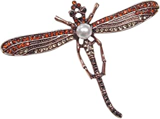 Femme Fashion Mariage bijoux Papillon Libellule Cristal Strass Broche Pin