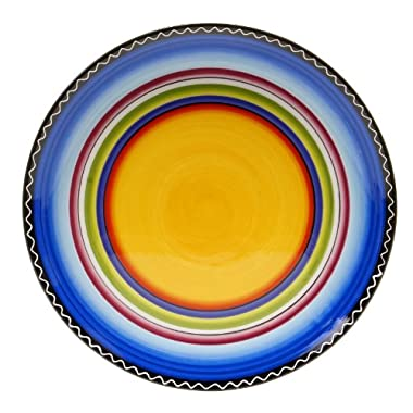 Certified International Tequila Sunrise Round Platter, 14.5-Inch