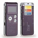 dmyi 4GB Mini USB Flash Pen Drive de disco 4G Digital Audio Grabador de Voz 650Hr dictáfono Reproductor de MP3Grabadora estéreo 3d gravador (color gris), color morado